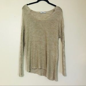 Zara Nude Lightweight Sweater